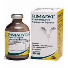 Rimadyl Cattle 50mg/ml Injection 50ml